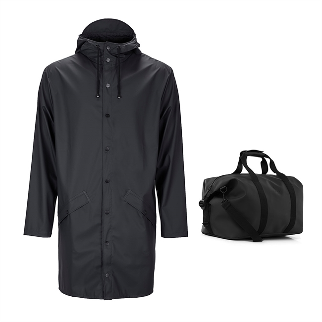 Rains, Long Jacket M/L, & Weekendbag, 46L