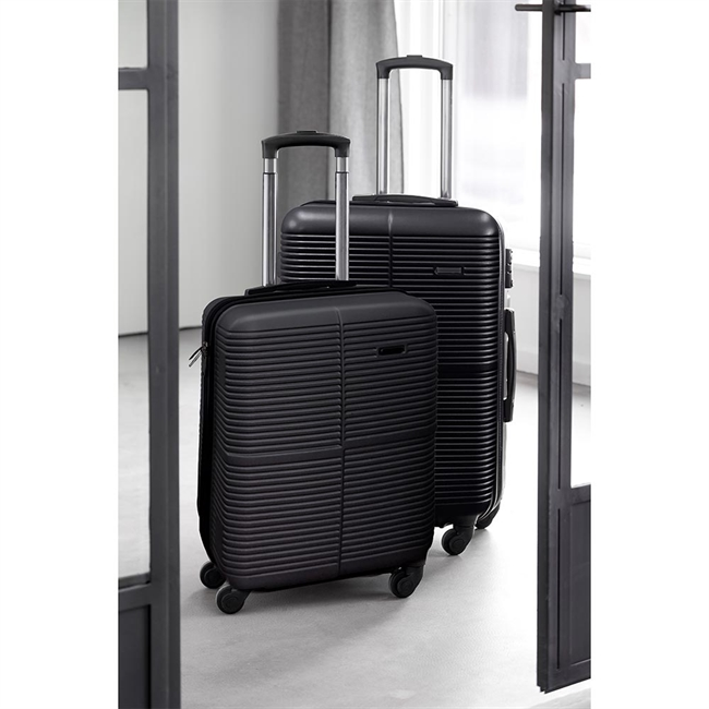 "Scandinavia Travel, Kuffertsæt, 19"" & 24"", Sort"